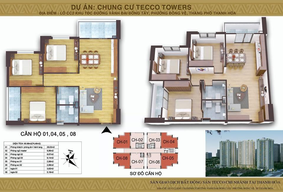 Mat bang Block B Tecco Tower Thanh Hoa CH01.04.05.08