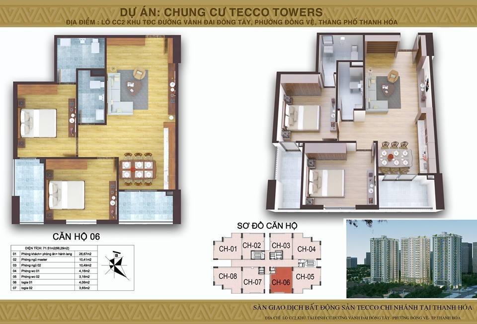 Mat bang Block B Tecco Tower Thanh Hoa CH06
